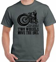 Two Wheels Move The Soul  Mens Funny Biker T-Shirt Indian Motorcycle  Motorbike