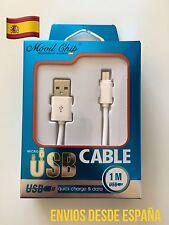 CABLE DE DATOS CARGA MICRO USB (M) A USB 2.0 (M) RÁPIDO  SÚPER GRUESO EXTRA