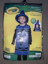 Crayola Blue Crayon Costume Dress Up Halloween Etc Age 3-4