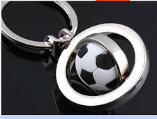 3D Sports Rotating football soccer Keychain Keyring Key Chain Ring Key Fob ball