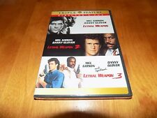 LETHAL WEAPON 1 2 & 3 Three Films Series Director's Cut 2 Disc DVD SET NEW
