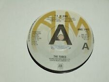 """THE TUBES *RARE  7"""" 45 ' T.V. IS KING ' 1979 VGC"""