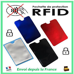 Pochette Etui Protection CB Carte Bancaire Sans Contact Anti-Piratage RFID