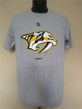 New Nashville Predators Mens Sizes M-L Gray Reebok Shirt