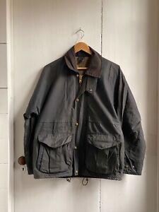 Filson Oil Cloth Field Jacket Navy Size Small