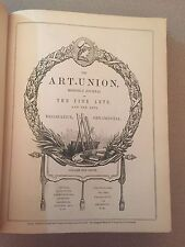 Vintage Book, Art Union, Volume IX, 1847, Prince Albert, Fine Arts, Engraving