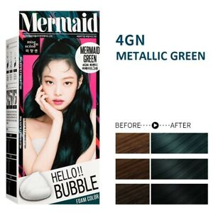 [MISE EN SCENE] Hello Bubble Foamy Creamy Bubble Hair Dye Color MERMAID GREEN