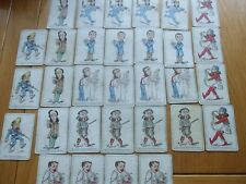ANTIQUE JOHN JAQUES SNAP GAME BY JOHN TENNIEL GROTESQUE CHARACTERS 31 CARDS