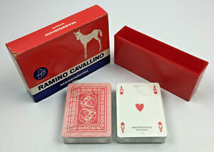 Italy Double Deck of Playing Cards by Masenghini, Ramino Cavallino SEALED CARDS