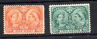 Canada 1897 1c & 2c Jubilee mint MH SG122 SG123 (good gum) WS19400