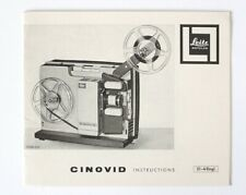 Leica Leitz Cinovid Projector Instruction Manual in English
