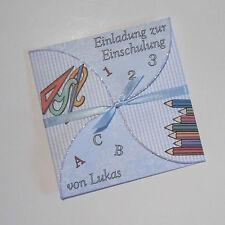 Einladung zur Einschulung Einschulungskarte Schultüte mit Namen Schule Karte