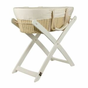Bebecare Baby Bassinet Moses Basket with White Stand