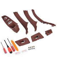 Door Handle Window Switch Panel 7pc Kit Fit BMW 5 Series 520 523 525 F10 F11 F18