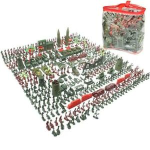 519Pcs Military Soldiers Tank Aircraft Rocket Army Men Sand Scene Model Kids Toy