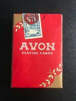NOS ORIGINAL ~ VINTAGE AVON PLAYING CARDS TAX STAMP SEALED ~ Never Opened ~ EXC
