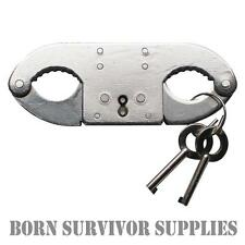 STAINLESS STEEL THUMB-CUFFS Double Locking Handcuffs for Thumbs Thumbcuffs Cuffs