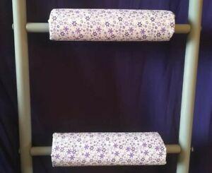 PURPLE DAISIES Padded Bunk Bed Ladder Rung Covers *No-Tool Install*Safe,Non Slip