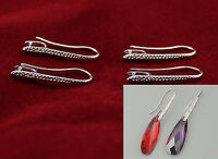 10PCS Jewelry Design Findings Silver Rough Pinch Bail Earring Hook For Crystal