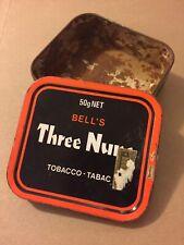 Vintage Tobacco Tin, Three Nuns, Vintage Smoking Tobacco Tin England Orange R8