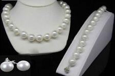 10mm White Akoya Shell Pearl Round Beads Necklace Bracelets Earrings AAA+