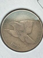 1858 Flying Eagle Cent - Roughly VG - Exact Penny Pictured - Free Shipping