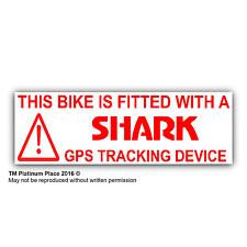 5 X Bici Advertencia de dispositivo de rastreo GPS equipada con Pegatinas-Signo, carreras, BMW, Alarma