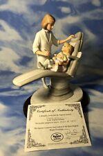"""HTF SIGNED LE 1250 Ronadro """"First Visit"""" Lady Dentist Figurine Girl COA EUC"""