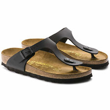 dc23c2e8929 Birkenstock Gizeh Birko-flor Style-no. 43691 Unisex Thong Sandals Black EU  37