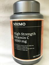 SOLIMO HIGH STRENGTH VITAMIN C 1000MG -180 TABS BRAND NEW