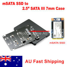 mSATA SSD to SATA Converter Adapter Card with 2.5 inch 7mm Enclosure Case
