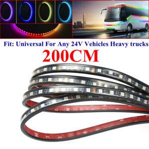 Truck Trailer Night LED Side Colour Front Light Waterproof Strip Lamp 24V 200CM