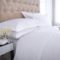 White 100% Pure Egyptian Cotton 400 Thread Count Pair of Housewife Pillow Cases