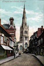 Newark. Kirkgate & Church by Valentine's.