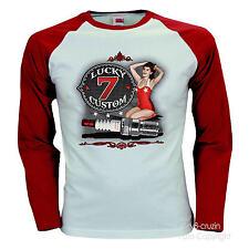 * Baseball T-Shirt Hot Rod Kustom Rockabilly Speed Shop Pin-Up *1291 LS