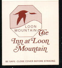 LINCOLN NH Inn At Loon Mountain Vintage Hotel Match Book Cover Old Advertising
