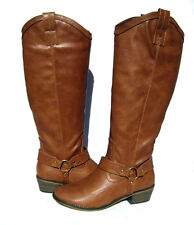 New Women's Western Style Riding Boots Tan Brown winter snow Ladies size 6.5