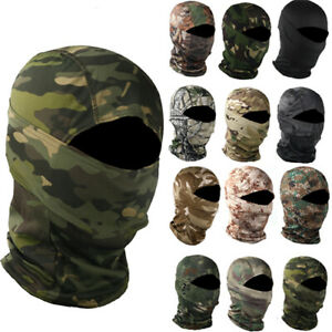 Outdoor Camo Tactical Full Face Mask Balaclava Hunting Cap Military Shooting Hat