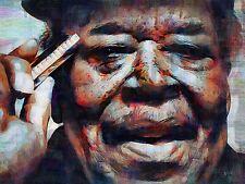 JAMES COTTON HARMONICA BLUES ART PRINT POSTER OIL PAINTING LLFF0068