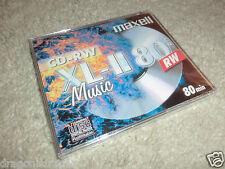 MAXELL CD-RW XL-II, 80 minuti/700mb ovp&neu, Audio CD-RW pezzo grezzo