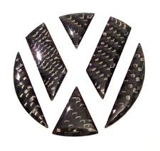 Echt Carbon Dekor - Ecken Inlays für VW Golf 6 VI Polo 6R, Passat 3C Heck Emblem