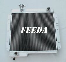 3ROW Radiator FOR Toyota Land Cruiser BJ40 BJ42 DIESEL engine Manual+SHROUND&FAN