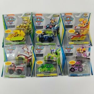 Paw Patrol True Metal Jungle Rescue lot of 6 Chase, Marshal, Skye, Rocky, Rubble