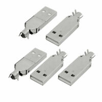USB Male Type-A 2.0 Jack PCB Socket Connector Adapter 5pcs