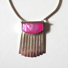 NEW Kendra Scott Ellen Long Pendant Necklace In Magenta Pearl Gold Tone $110