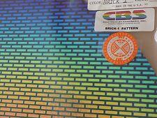 "Dichroic Glass:CBS 96 COE Brick Pattern - Rainbow on Flat Black - 13 Pcs  3""Sq"