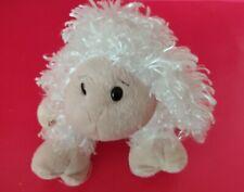 Longer White Curly Wool Plush Sheep