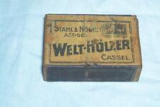 Alte Streichholzschachtel 1923 STAHL&NÖLKE WELT-HÖLZER