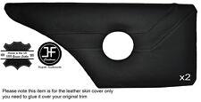 Grey stitch 2X porte arrière carte cuir housse fits alfa romeo alfetta gtv