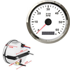 12V 24V Waterproof Tachometer Speedometer Gauge With Hour meter for Auto Marine